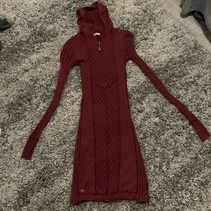 ATHLETA maroon sweater dress